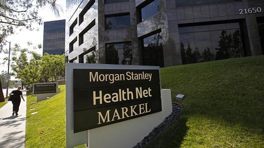 Corporate headquarters of insurer Health Net Inc. in Woodland Hills, California.