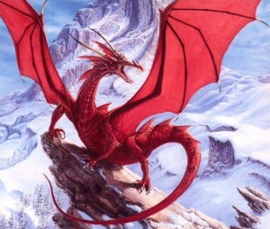 The Red Dragon before I removed the background