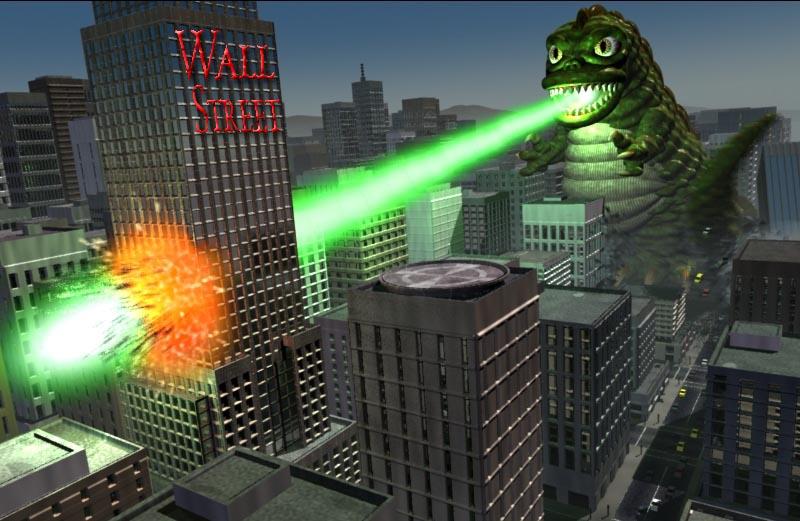wallsteet-attacked-by-godzilla