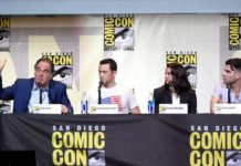 """""""Snowden"""" panel at Comic-Con 2016 in San Diego."""