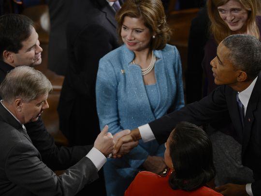 Sen. Lindsey Graham, R-S.C., bottom left, Sen. Marco