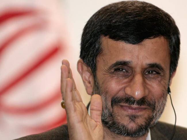 Thrived ... Babak Zanjani became notorious during the presidency of Mahmoud Ahmadinejad (pictured). Picture: AP Photo/Eraldo Peres