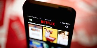 Netflix app on a mobile phone